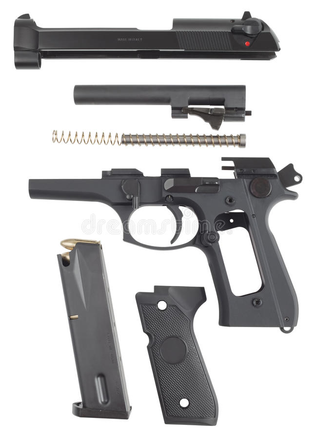 Free Disassembled Pistol Royalty Free Stock Images - 16326759
