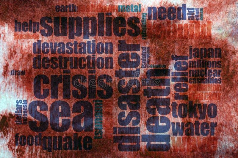 Disaster concept vector illustration