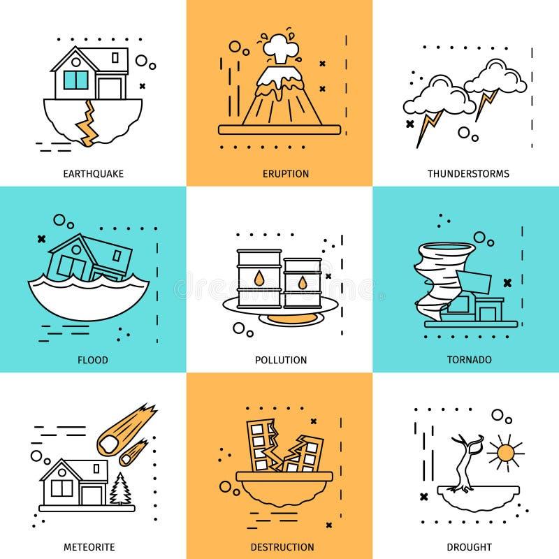 Disaster Damage Concept stock illustration