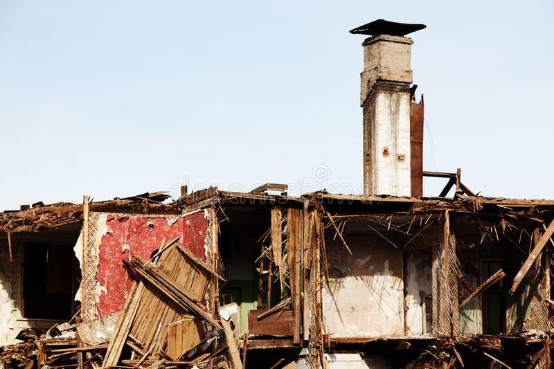 Download Disaster ruined house stock image. Image of abandoned - 19154895