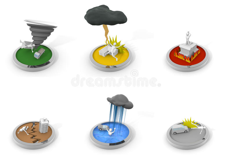 Disaster / Tornado / Accident royalty free illustration
