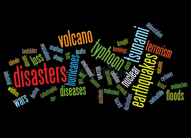 Disasters Background Stock Photo