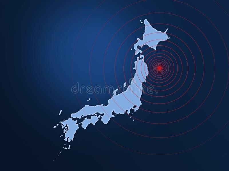 Disastre 2011 do terremoto de Japão ilustração stock
