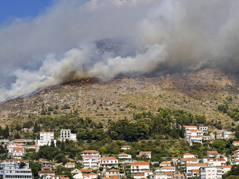 Disastre do incêndio foto de stock royalty free