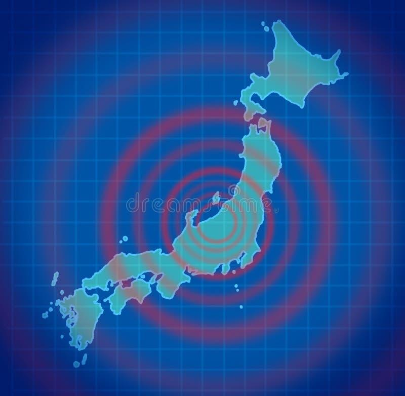Disastre do terremoto de Japão ilustração royalty free