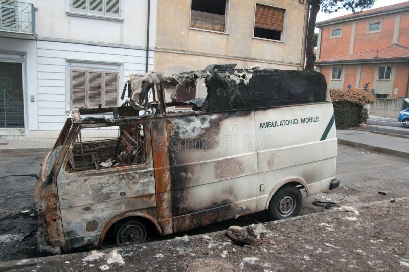 Disastre do trem em Viareggio, Italy fotografia de stock