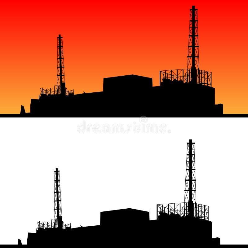 Disastre nuclear ilustração royalty free