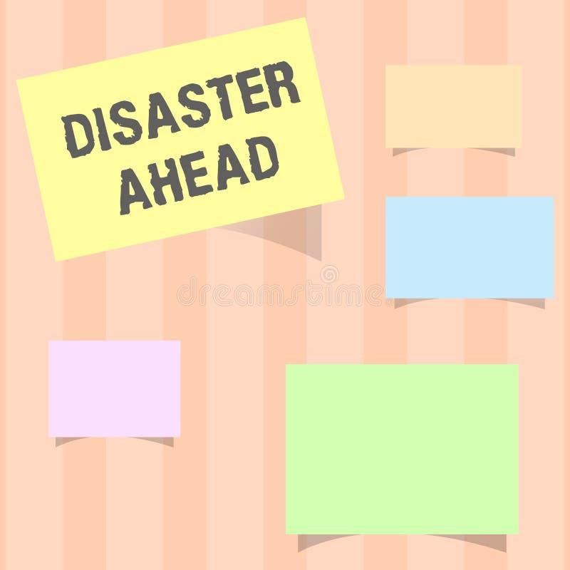 Disastro del testo della scrittura avanti Piano di emergenza di significato di concetto che prevede un disastro o un incidente royalty illustrazione gratis