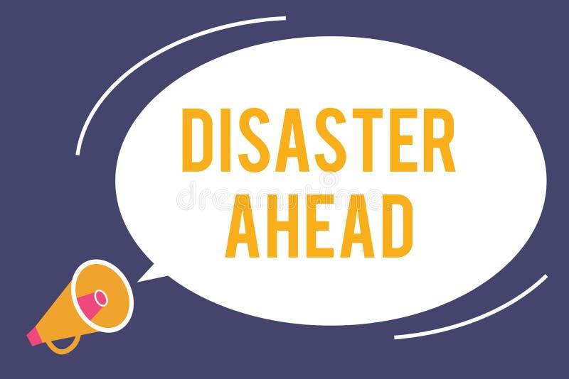 Disastro del testo di scrittura di parola avanti Concetto di affari per piano di emergenza che prevede un disastro o un incidente illustrazione vettoriale