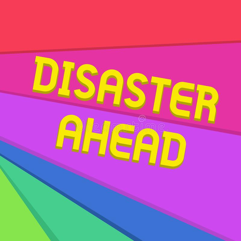 Disastro di scrittura del testo della scrittura avanti Piano di emergenza di significato di concetto che prevede un disastro o un illustrazione di stock