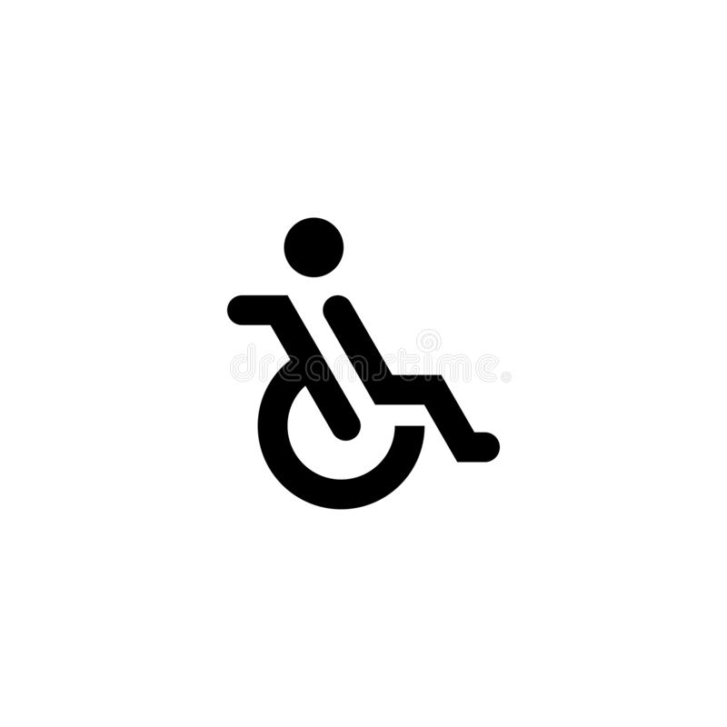 Disattivi l'icona del segno della gente illustrazione vettoriale
