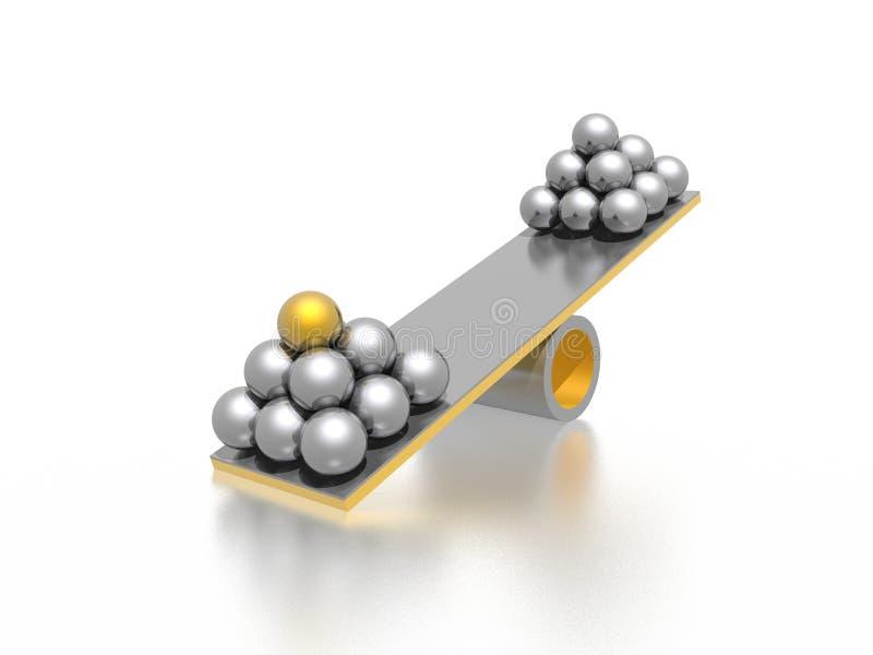 Disbalance ilustración del vector