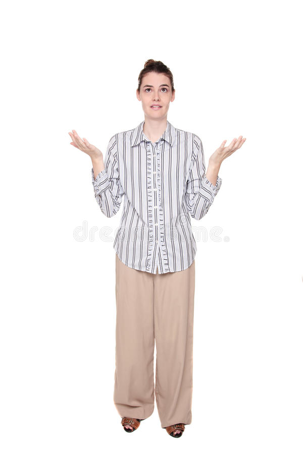 Download Disbelief - Caucasian Woman With Arms Raised Stock Photos - Image: 18657663