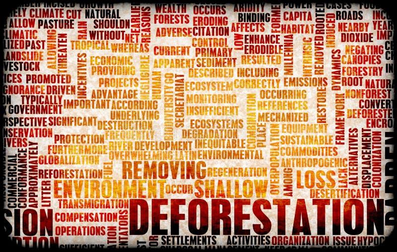 Disboscamento illustrazione di stock