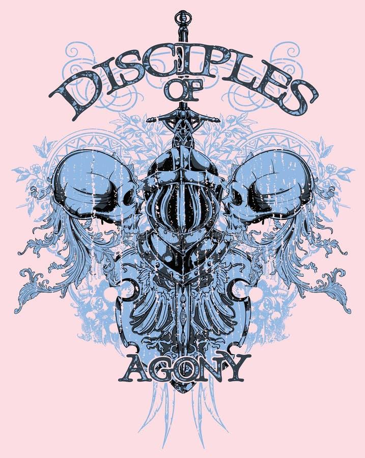 Discípulos de la agonía libre illustration