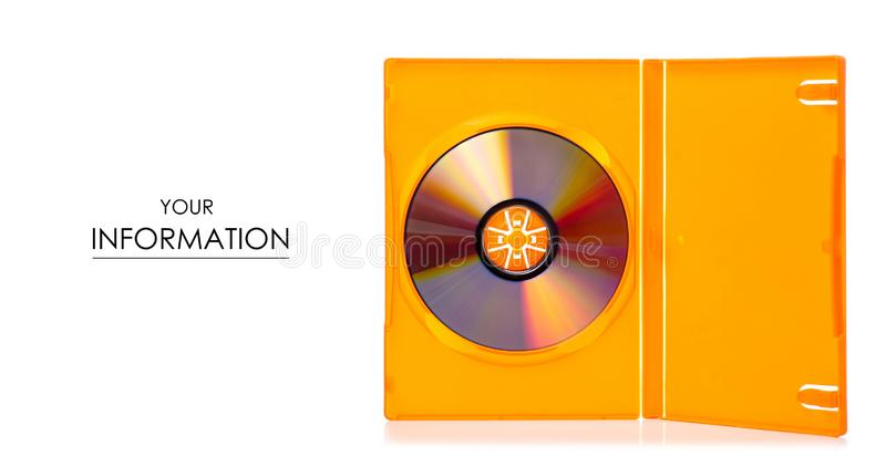 Disc in box pattern. On white background. Isolation stock image
