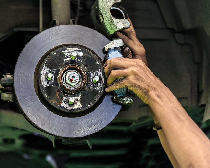 Disc brake of a car royalty free stock photo