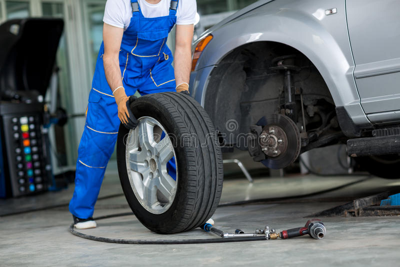 Disc brake on car royalty free stock images