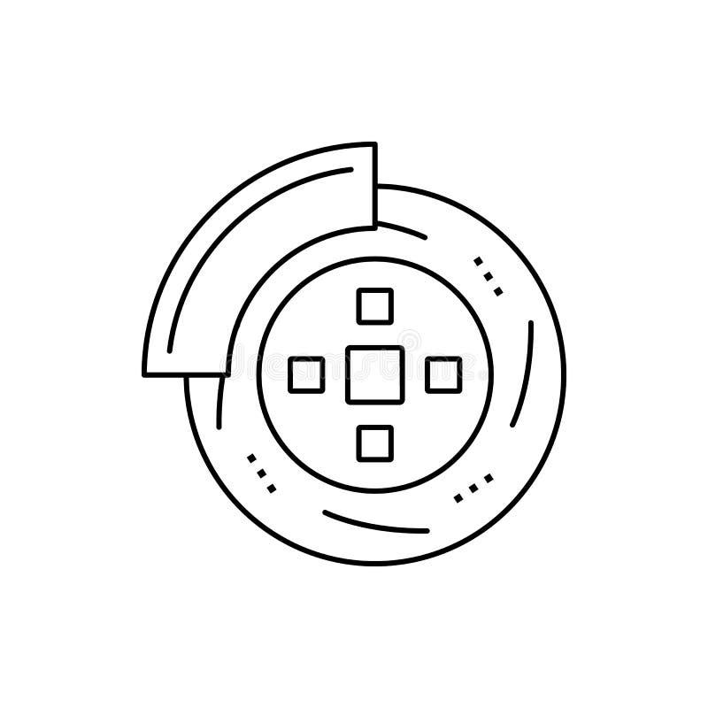 Disc brake car service icon. Element of automobile icon on white background. Disc, brake, car, service icon. Element of automobile icon on white background vector illustration