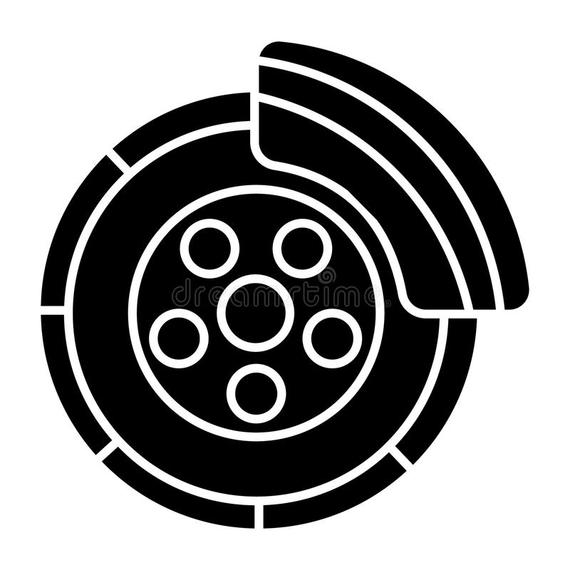 Disc brake - car service icon, vector illustration, black sign on isolated background vector illustration