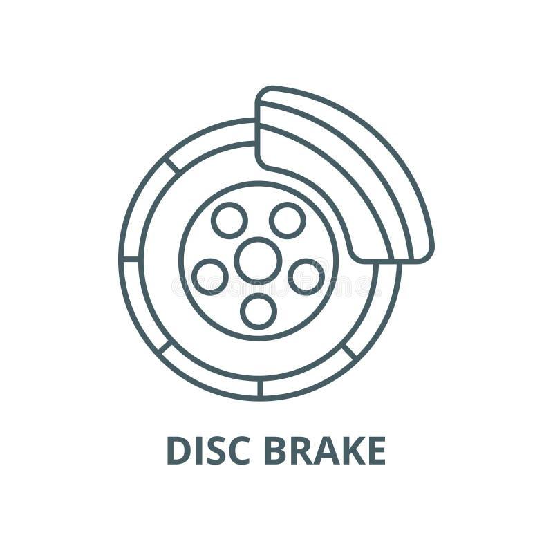 Disc brake,car service line icon, vector. Disc brake,car service outline sign, concept symbol, flat illustration. Disc brake,car service line icon, vector. Disc vector illustration