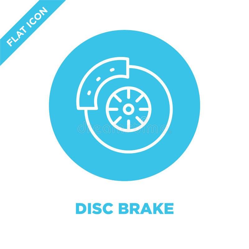 Disc brake icon vector. Thin line disc brake outline icon vector illustration.disc brake symbol for use on web and mobile apps,. Logo, print media stock illustration