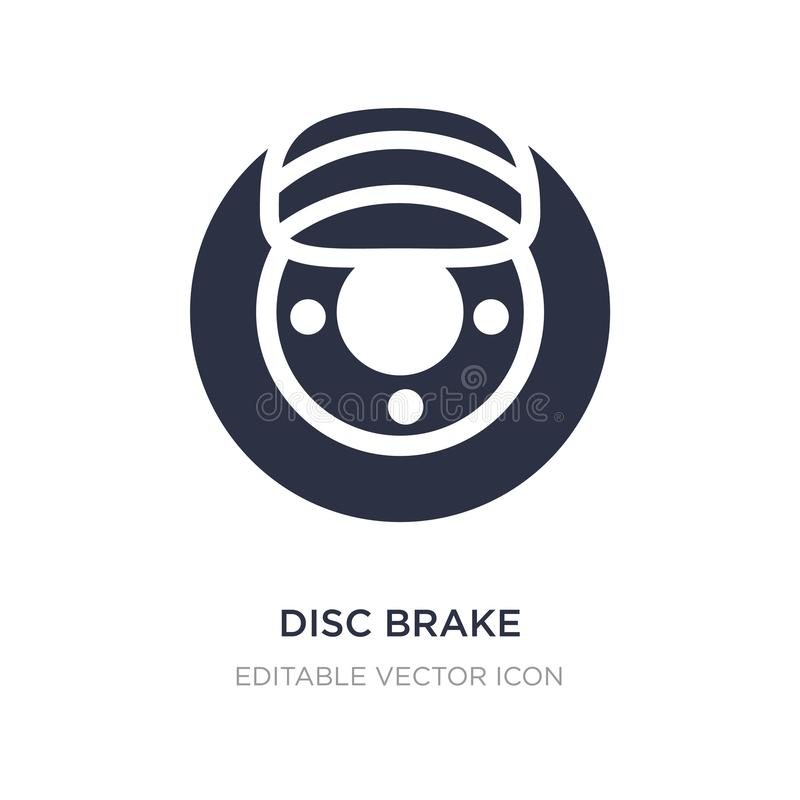 Disc brake icon on white background. Simple element illustration from Transportation concept. Disc brake icon symbol design stock illustration