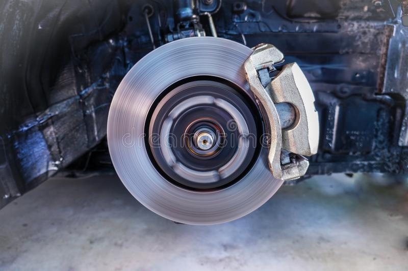 Disc brakes, stopping the break ,Car Suspension and car bearing parts concept -3. Disc brakes, stopping the break ,Car Suspension and car bearing parts concept stock photography