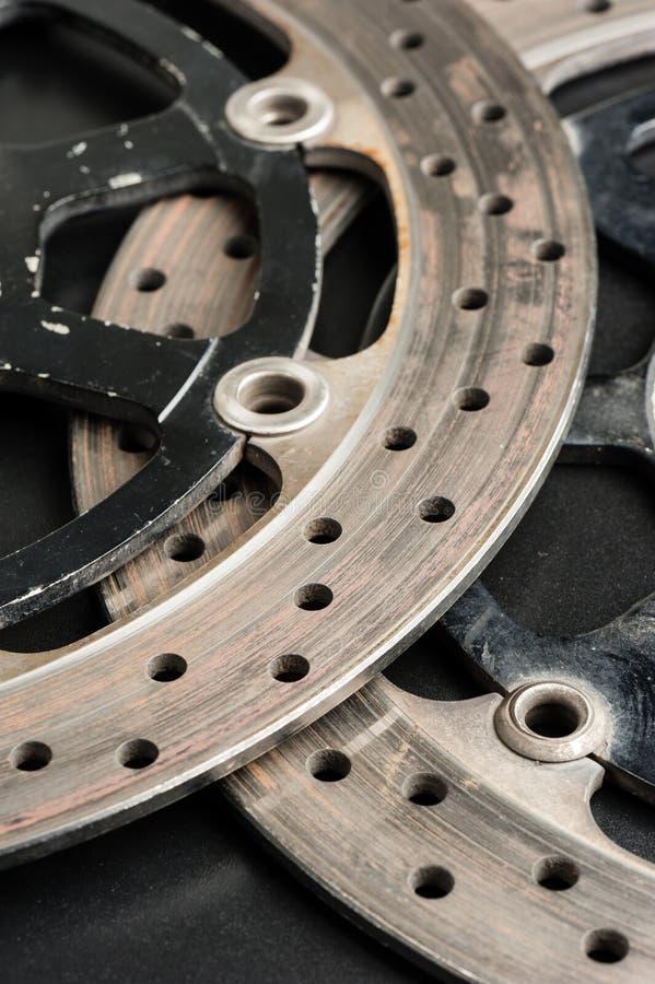 Disc break. Closeup old motorcycle disc break royalty free stock image