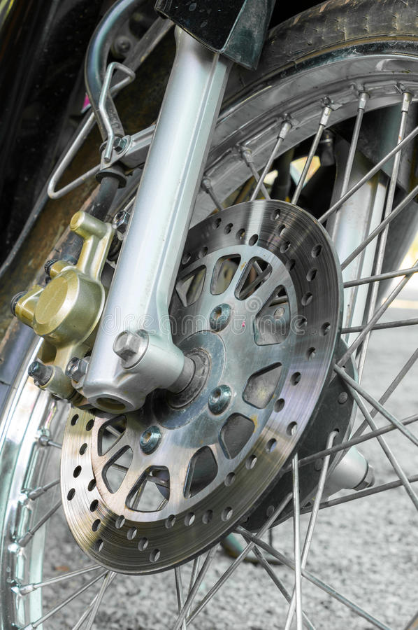 Disc Break of Motorcycle. For upgrade safety to break stock photo