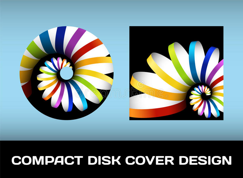 Download Disc cover design stock vector. Image of brand, creative - 26398545