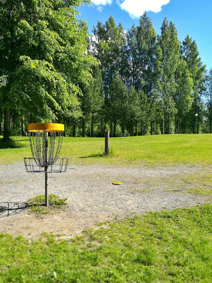Disc Golf Mobile stock images