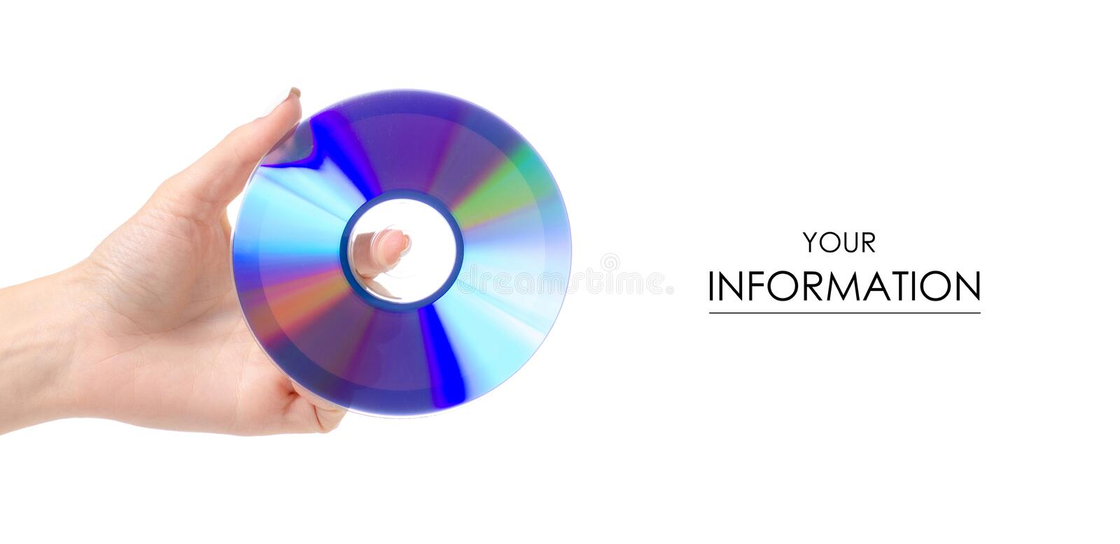 Disc in hand pattern. On white background. Isolation royalty free stock photos