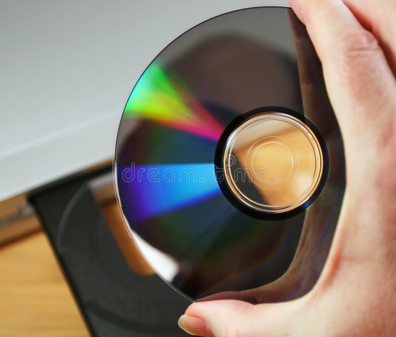 Disc in hand with player stock photo