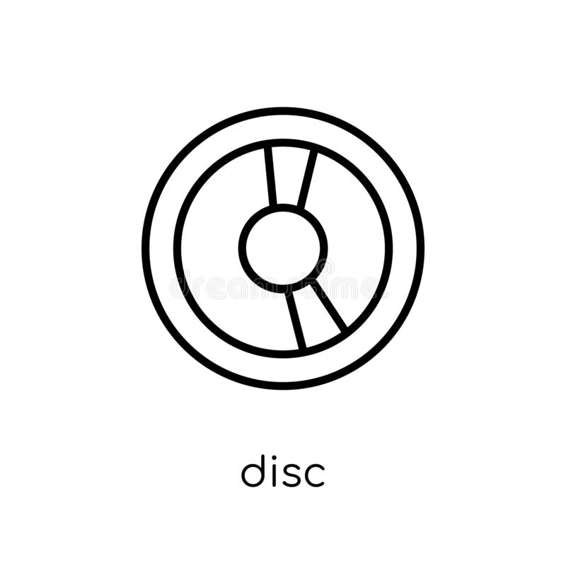 Disc icon from Music collection. stock illustration