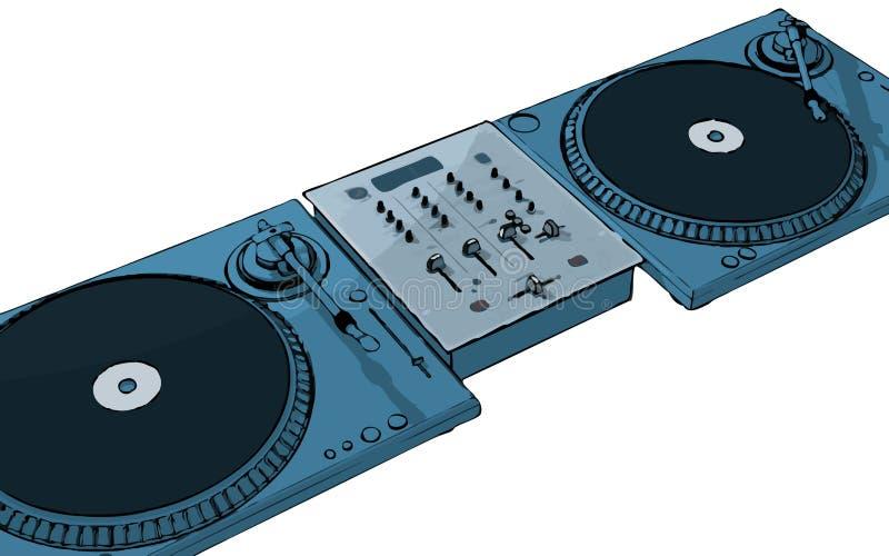 Disc jockey ilustración del vector