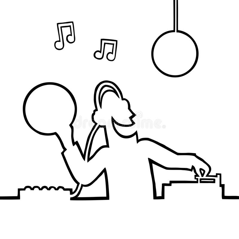 Disc jockey playing a record royalty free stock images
