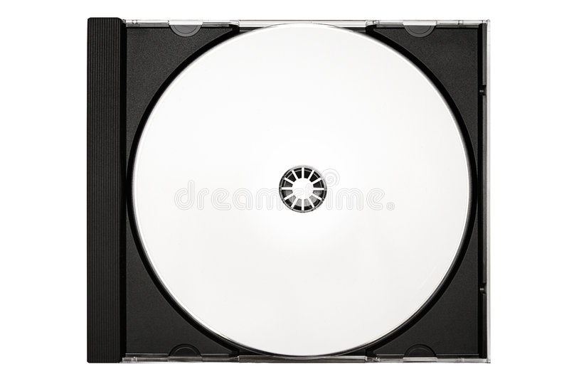 Disc Labeling – Inlay and Blank Disc w/ Path stock image