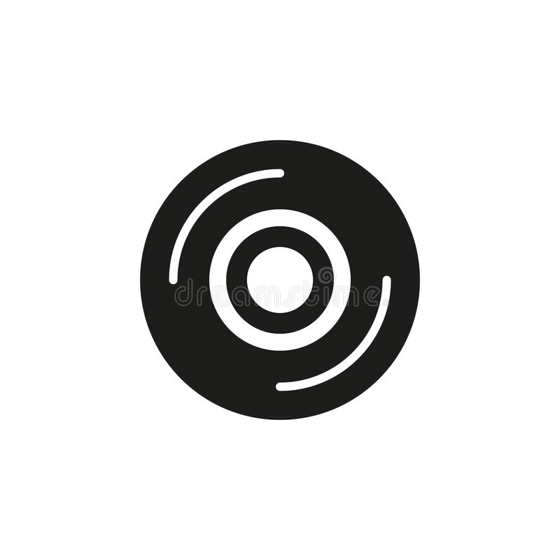 Disc vector icon royalty free illustration