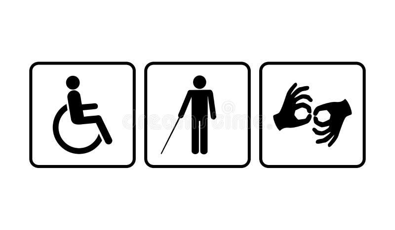 Discapacitado ilustración del vector