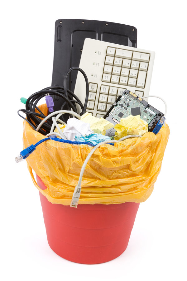Download Discarded Computer Hardware Stock Photo - Image of fashioned, environment: 3547486