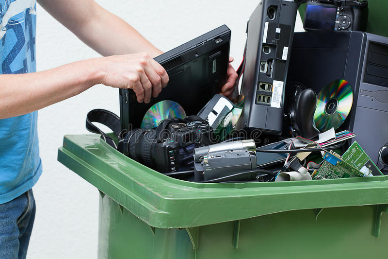 Download Discarded And Old Computer Hardware. Stock Photo - Image: 35738992