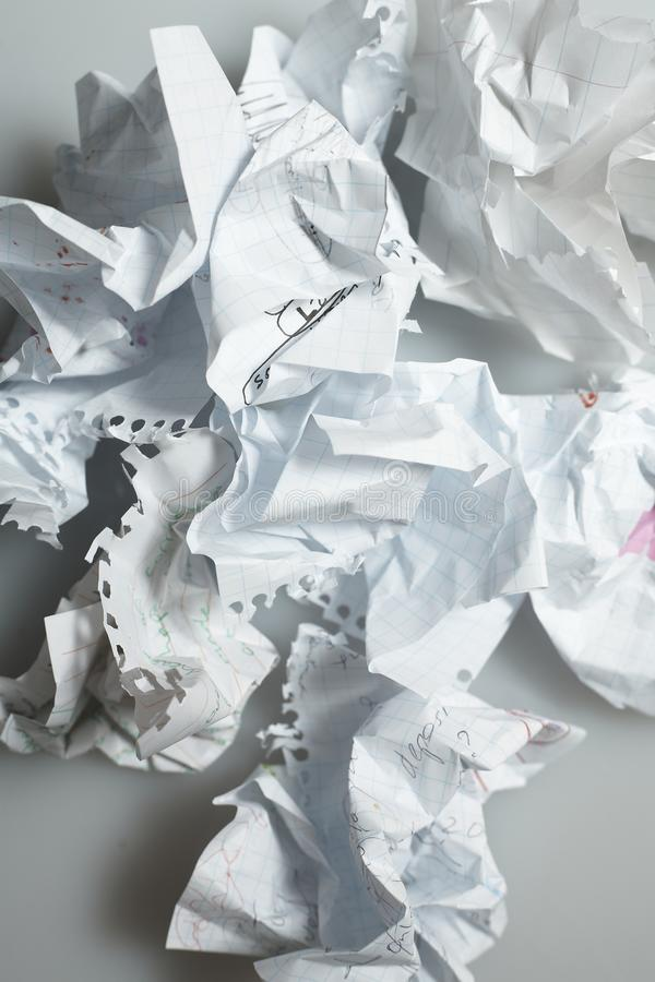Download Discarded Paper-On White stock photo. Image of indecisive - 18469322