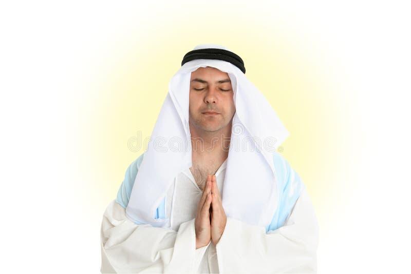 Discepolo nella preghiera fotografia stock libera da diritti