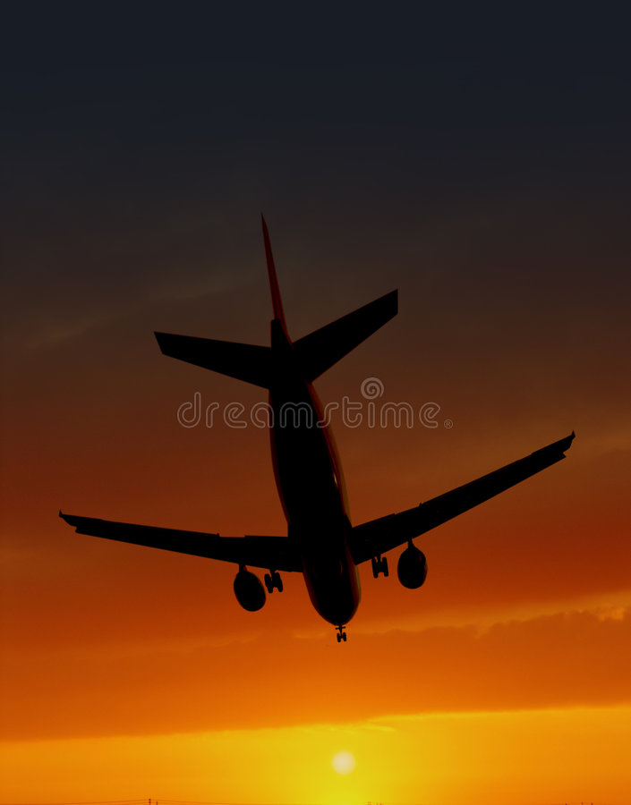 Download Discesa piana immagine stock. Immagine di aeroplano, corsa - 7304059