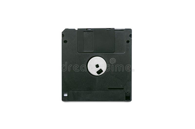 Dischetto nero isolato immagine stock