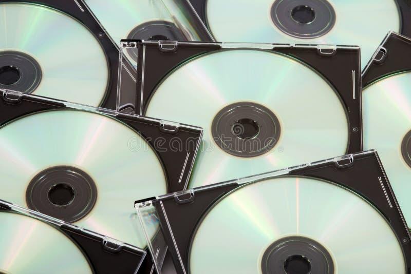 Dischi compatti in bianco fotografia stock
