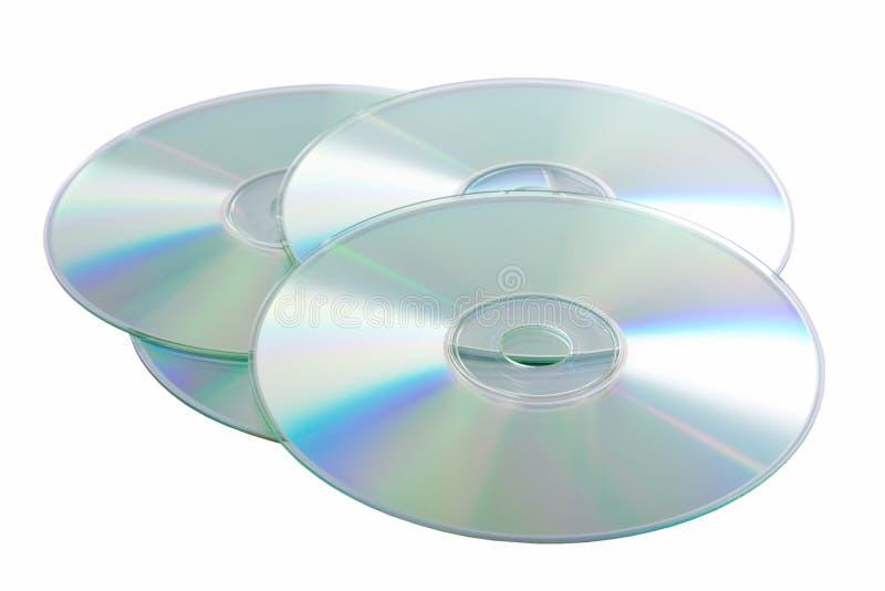 Dischi compatti d'argento fotografia stock