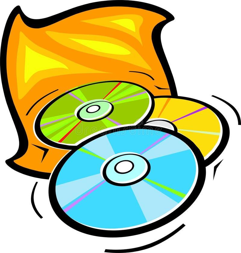 Dischi compatti o DVD illustrazione vettoriale