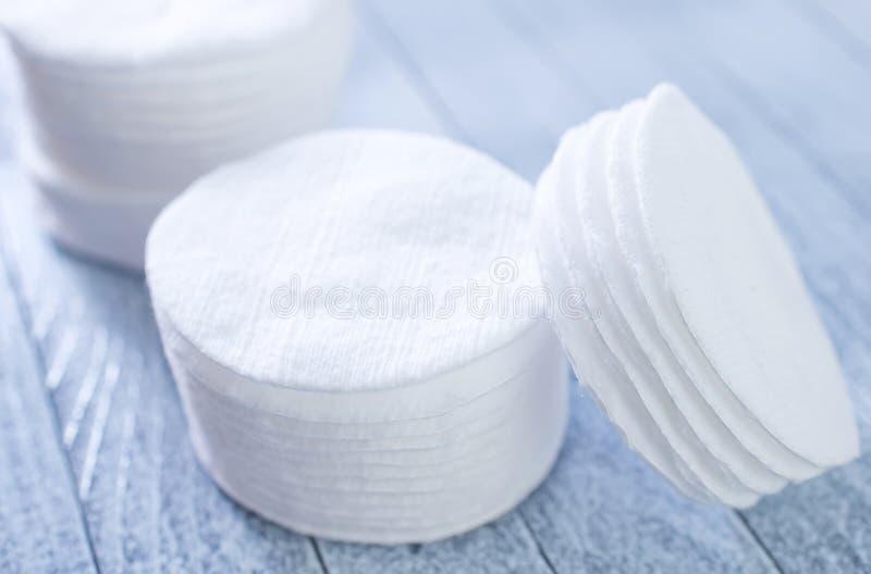 Dischi del cotone immagine stock